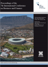 Cover for Proceedings of the 7th International Conference on Business and Finance