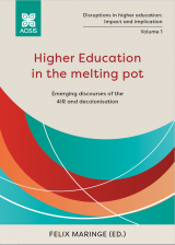 Cover for Higher Education in the melting pot: Emerging discourses of the 4IR and Decolonisation