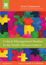 Cover for Critical Management Studies in the South African context