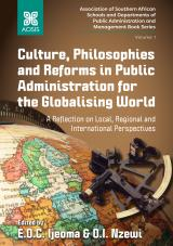 Cover for Culture, philosophies and reforms in public administration for the globalizing world: A reflection on local, regional and international perspectives