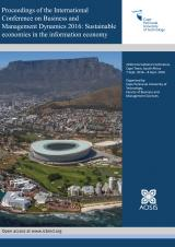 Cover for Proceedings of the International Conference on Business and Management Dynamics 2016: Sustainable economies in the information economy